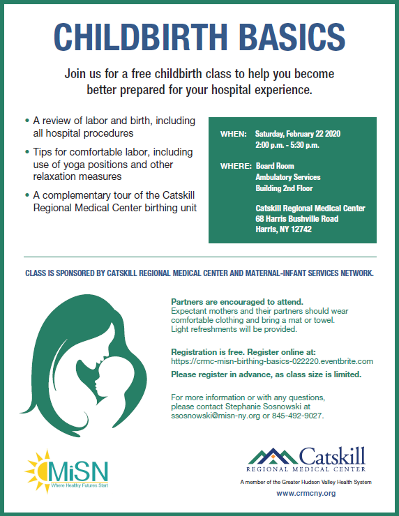 Childbirth Basics 2-22-20 Flyer